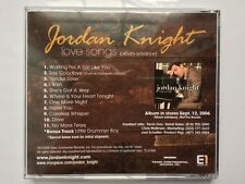 Jordan Knight Love Songs  brand new  not  sealed  album advance  cd