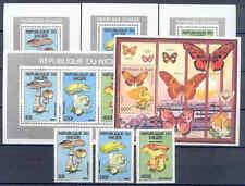 Pilze, Mushrooms - Niger - 3 Werte, 5 Bl. ** MNH 1991
