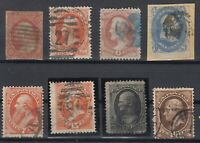 X2479/ UNITED STATES – 1853 / 1875 USED CLASSIC LOT – CV 515 $