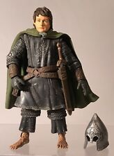 "Lord Of The Rings ROTK Pippin Armor Removable Helmet 6"" Figure ToyBiz 2003 Sword"