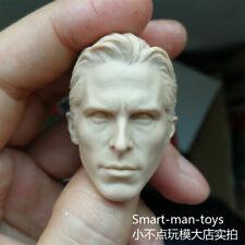 blank 1/6 scale Head Sculpt Christian Bale batman unpainted