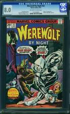 Werewolf by Night 32 CGC 8.0  1st Moon Knight  ow/w pages!