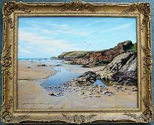 GRAHAM PETLEY. ORIGINAL PAINTING OF WEST PENTIRE, NEWQUAY,CORNWALL.
