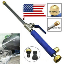 High Pressure Power Washer Water Spray Gun Wand For Car Garden Hose Clean Blue