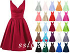 Short A-line Satin Prom Dress Formal Evening Party Cocktail Bridesmaid Dresses