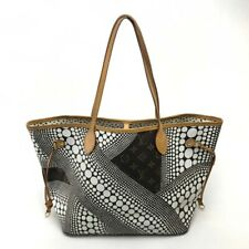 LOUIS VUITTON Yayoi-Kusama Neverfull MM Monogram-Wave Tote Bag M40684