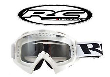 Lunette moto cross RC BLANC lunettes Masque (Shark Shoei Fox) Scooter