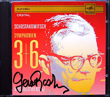 Guennadi Rozhdestvensky signed Shostakovich Symphony 3 6 EURODISC CD autographe