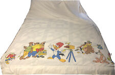 Vintage Walter Lantz Woody Woodpecker Chilly Willy Full Flat Sheet 68 x 96""