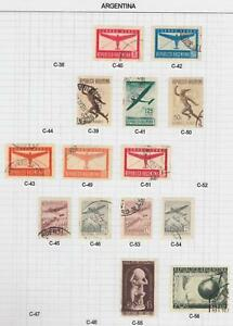 ARGENTINA OLD COLLECTION ON ALBUM PAGES VERY NICE  R992