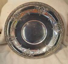 Vintage Wallace Sterling Silver Rose Point? Serving Platter, Marked