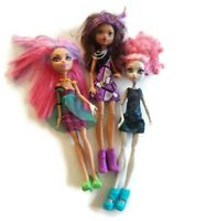 Lot 3 Monster High Dolls Sisters Howleen & Clawdeen Wolf Rochelle Accessories