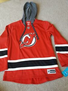 New New Jersey Devils Women's Large Reebok Hoodie With Tags plus FREE Shipping!