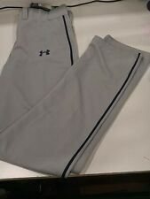 Mens Under Armour Relaxed Fit Navy Stripe Baseball Pants, Medium