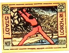 1921 Germany LORCH 25  Pnennig  Notgeld / Banknote