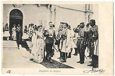 Montenegro 1901 Podgorica Royal venue postcard to Italy