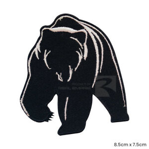 Bear Grizzly Bear Iron on Sew on Embroidered Patch Badge For Clothes Bags etc