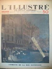 EMEUTE RUE NATIONALE CHAUFFEURS DE TAXI POLICE 1er MAI LE PETIT JOURNAL 1934