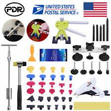 56× PDR Tool Car Body Paintless Hail Removal Dent Puller Lifter T Bar Hammer Kit