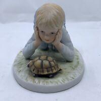 "1983 Frances Hook Roman Porcelain Figurine ""Finish Line"" Vintage A Childs World"