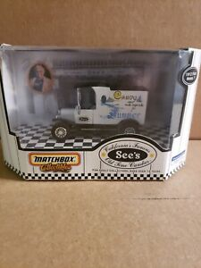 NIB Matchbox Collectibles See's Candies 1912 Ford Model T.