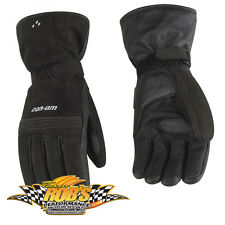 NEW CAN-AM SPYDER MENS CLASSIC LONG LEATHER GLOVES BLK MD 4461860690 CLEARANCE