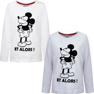 Diseny Mickey Mouse Longsleeve T-Shirt Langarm Shirt Samt grau creme Gr. 98-128