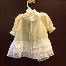 Gorgeous Peachy/Tan Doll Dress With Lace with pantaloons Handmade