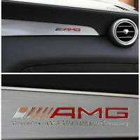 2pcs AMG Interior Emblem Aluminum Decal Sticker Badge for Mercedes Benz
