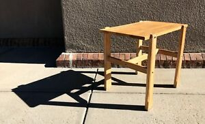 """A Brandt Ranch Oak Unique Open Shelf Nightstand Side Table 17 1/4 x 25 x 21 3/4"""""""