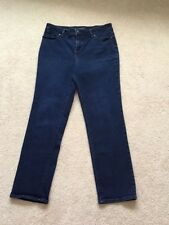 TALBOTS - PETITIES Women's Dark Wash Relaxed Fit Denim Jeans Size 10P