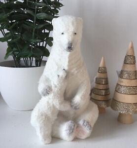 Gorgeous Mother & Baby Polar Bear Ornament Figurine Nice Quality Christmas
