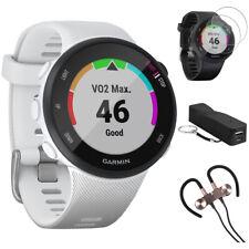 Garmin Forerunner 45S GPS Running Watch 39mm (White) w/ Accessories Bundle