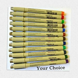 Sakura Pigma Micron Pens XSDK05/0.45mm Line, Choose Color - NEW