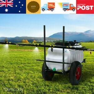 Giantz 100L ATV WEED SPRAYER 3M Boom Trailer SPOT SPRAY TANKS Garden Farm Pump