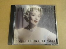 CD / MARLENE DIETRICH - LIVE AT THE CAFE DE PARIS