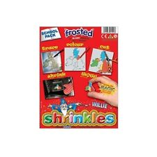 PACK OF 50 SHEETS FROSTED SHRINKLES 13cm x 10cm CHILDREN SCHOOL SHRINK ART 1601