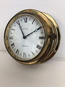 Kienzle Venturer Quartz Brass Ships Wall Clock