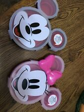 Disney Mickey And Minnie Mouse Silicone Plates With lids