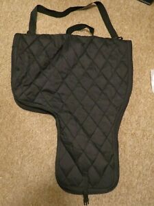 WESTERN SADDLE CARRIER CARRY CASE TRAVELING COVER QUILTED NYLON FABRIC WITH HEAV