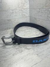 Vintage Rare Oakley Belt Buckle 96113-OVT Jet Blue And Leather Oakley Belt