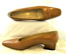 Vintage Silvia Fiorentina Size 6.5M Adrian Brown Pumps Shoes Genuine Leather