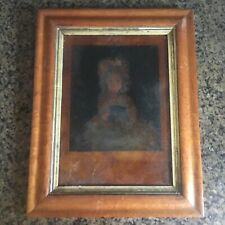 Stunning 19th C Antique Bird's Eye Maple Picture Frame w/ Gold Leaf Liner #2