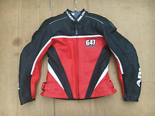"ARLEN NESS Ladies Leather Motorcycle Jacket UK 10 = 34"" Chest (H64)"
