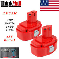 2pack 3.0AH 18V NI-MH Battery For Makita 1822 1823 1833 1834 8391D PA18 4334D