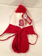NC State Wolfpack Toddler Hat Mitten Set Red White
