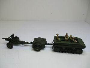 Dinky Toys #162A LIGHT DRAGON,162B TRAILER,162C18-POUND FIELD GUN.W/4SOLDIERS