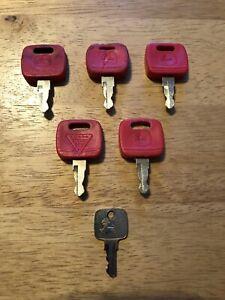 """6-JOHN DEERE  Heavy Equipment Equipment Ignición Key Set """"USED"""""""