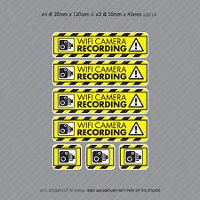 Cámara de video 7 X Pegatinas de grabación Wifi Cámara en Tablero CCTV en Coche Adhesivo-SKU4069