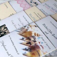 Card Wedding Programs
